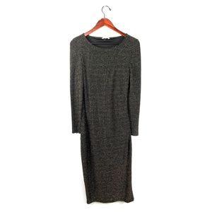 Anthropologie Tulle Dress metallic shimmer maxi